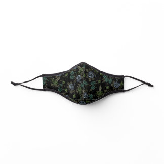 Green Earth Flowers Premium Face Mask