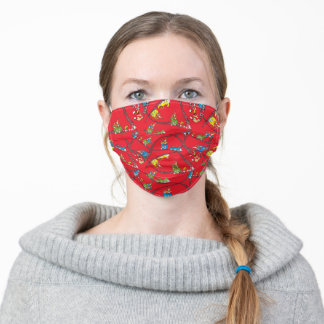 Green Eggs and Ham | Train Pattern Adult Cloth Face Mask