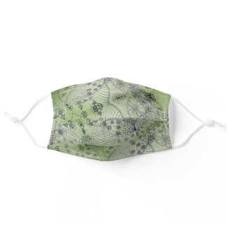 Green face mask