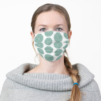 Green Flower Mandala Pattern Adult Cloth Face Mask