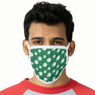 Green Football Grid Patterned Face Mask