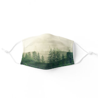 Green Forest Cute Outdoor Nature Adventure Lovers Adult Cloth Face Mask