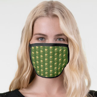 Green | Gold Tone Grad Cap Class of 2020 Face Mask