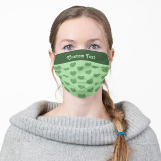 Green Heart Flat Icon Adult Cloth Face Mask
