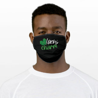 Green lucky charm adult cloth face mask