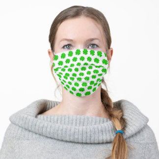Green Lucky Clover & Irish Luck /trendy fashion Adult Cloth Face Mask