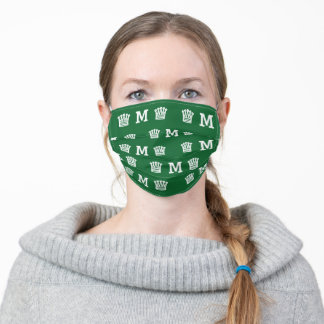 Green Personalized Monogram Adult Cloth Face Mask