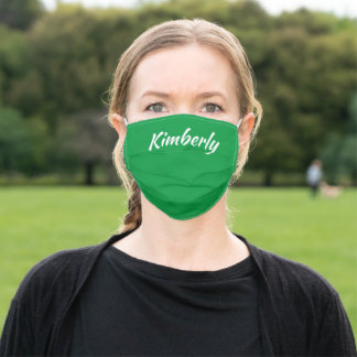 Green Personalized Name Cloth Face Mask