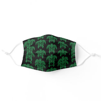 Green Polynesian Sea Turtle Adult Cloth Face Mask