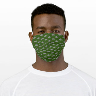 Green School of Fish Adult Cloth Face Mask