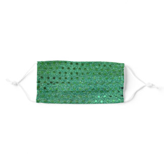 green sequin pattern adult cloth face mask
