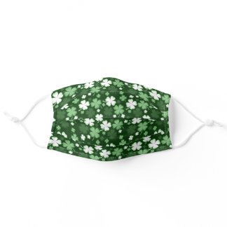 Green Shamrock, St. Patrick's Day Adult Cloth Face Mask