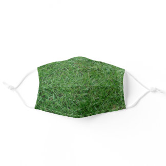 Green summer grass, yard, lawn sod nature photo adult cloth face mask