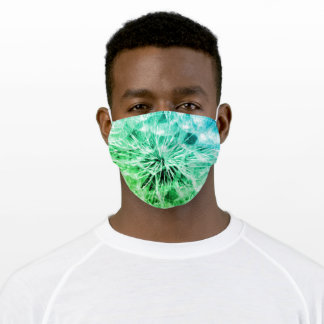 Green Tie Dye Adult Cloth Face Mask