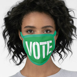 GREEN VOTE FACE MASK