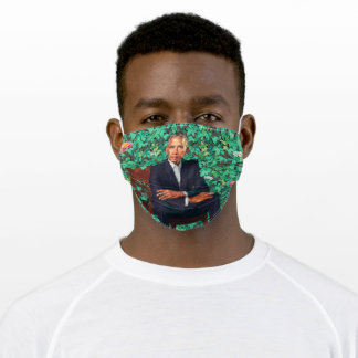 Green White House Portrait, President Obama Adult Cloth Face Mask