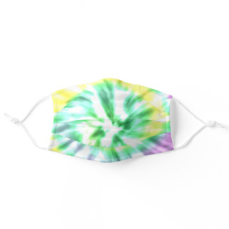 Green Yellow Tie dye abstract Adult Cloth Face Mask