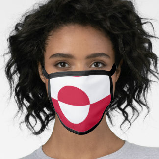 Greenlander flag face mask
