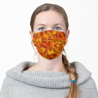 Grenadier Tangerine Roses Adult Cloth Face Mask