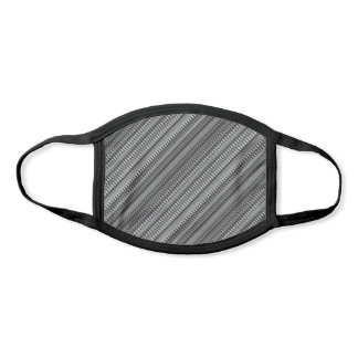 Grey and White Trippy Stripes Abstract Psychedelic Face Mask
