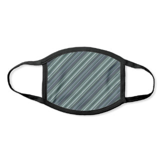 Grey Green Trippy Stripes Abstract Cool Rad Unisex Face Mask