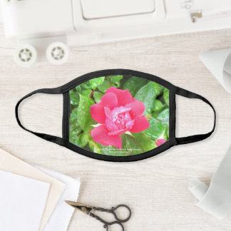 greyforaday Red Floral  Face Mask