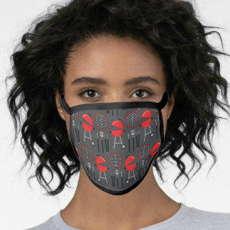 Grill Cooking Cute Barbecue Grilling BBQ Food Face Mask