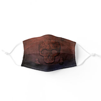 Grim And Gritty Skull And Crossbones Adult Cloth Face Mask