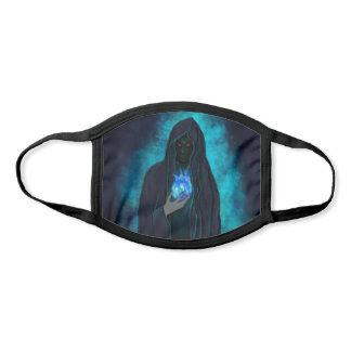 Grim Reaper with Blue Fire Magic Crystal Ball Face Mask