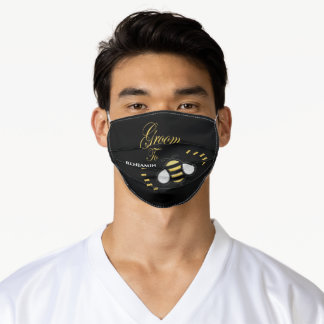 Groom To Be Bachelor Party Personalize Adult Cloth Face Mask