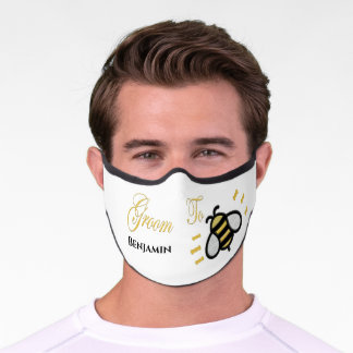 Groom To Be Bachelor Party Personalize Premium Face Mask