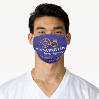 GROWING UP NM Blue Adult Cloth Face Mask