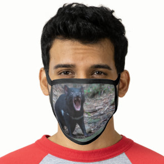 Growling Tasmanian Devil Wildlife Animal Australia Face Mask