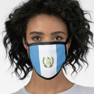 Guatemalan flag face mask
