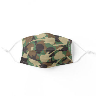 Guitar Camouflage Adult Cloth Face Mask