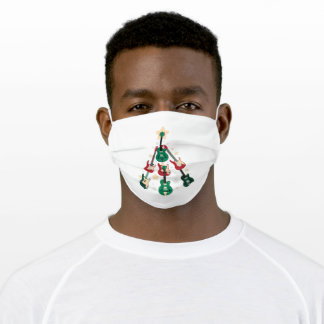 GUITAR CHRISTMAS TREE ADULT CLOTH FACE MASK
