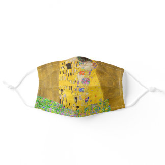 Gustav Klimt The Kiss Fine Art Adult Cloth Face Mask