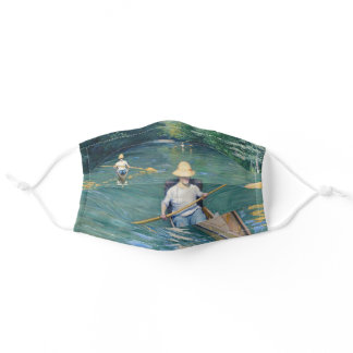 Gustave Caillebotte - Skiffs on the Yerres Adult Cloth Face Mask