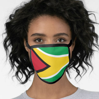 Guyana & Guyana Flag Mask - fashion/sports fans
