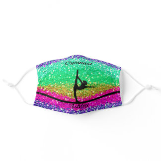 Gymnastics Beam Sparkle Face Mask