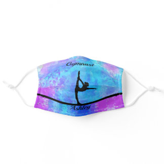 Gymnastics Beam Watercolor Face Mask