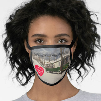 """H&F Railway """"Chasing the Storm"""" face mask"""