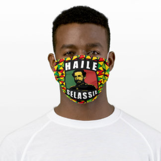 Haile Selassie I Jah Bless Jah Rastafari Reggae Adult Cloth Face Mask