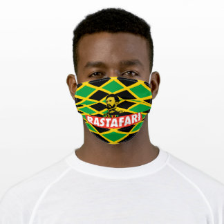 Haile Selassie I Jah Rastafari Reggae Jamaica Adult Cloth Face Mask