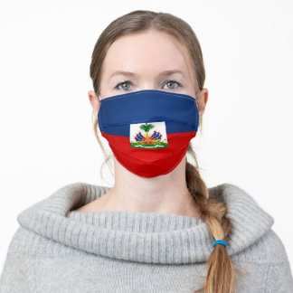 Haiti Flag Adult Cloth Face Mask