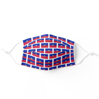 Haiti flag pattern adult cloth face mask