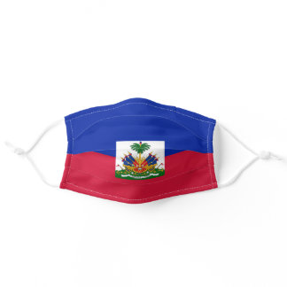 Haitian flag adult cloth face mask