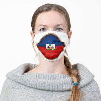 Haitian Flag Seal Adult Cloth Face Mask