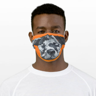 Halloween Black Harlequin Dane Painting Adult Cloth Face Mask