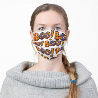 Halloween Boo Pattern Adult Cloth Face Mask